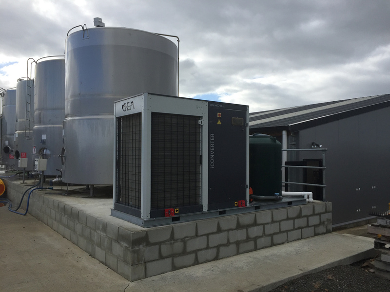 A snap chiller unit installed by Nind Dairy Services helps meet milk cooling regulations