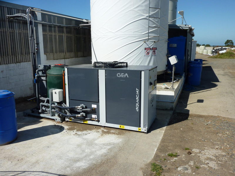 The GEA aquaCHILL unit at Burgundy Farms