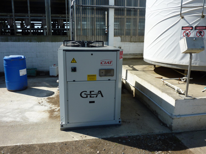 The GEA aquaCHILL unit at Burgundy Farms installed by Nind Dairy Services